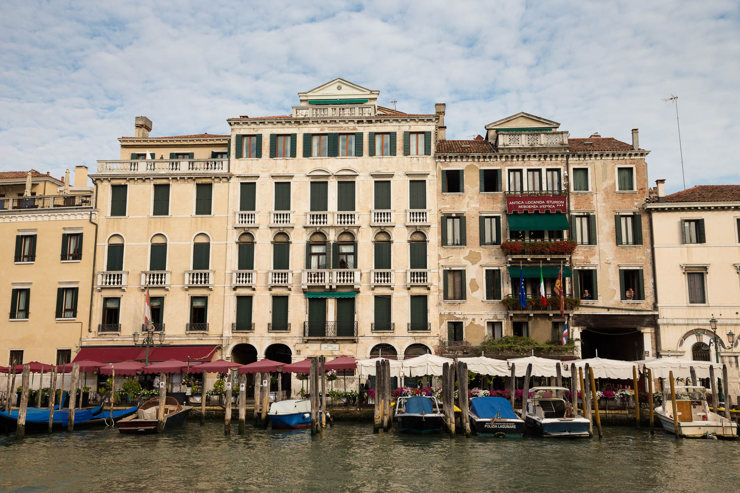 Restaurants am Canal Grande in Venedig